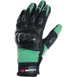 MotoX Green Pro Motocross Leather Gloves