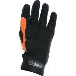 MotoX Orange Pro Motocross Leather Gloves