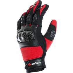 MotoX Red Pro Motocross Leather Gloves