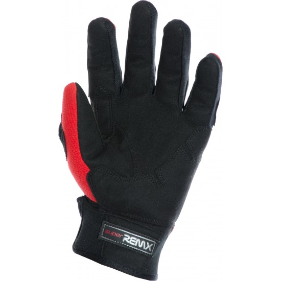 MotoX Red Pro Motocross Leather Gloves