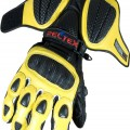 RTX Neon Yellow Leather Biker Gloves