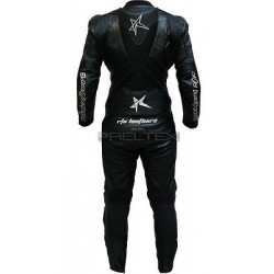RTX Panther Black Original Sports Biker Motorcycle One Piece Race Leathers Suit