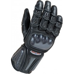 RTX Radon Elite Black Biker Gloves