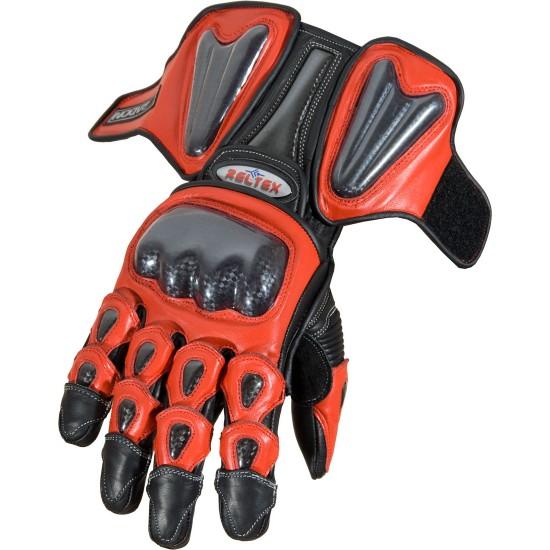 RTX Radon Elite Red Biker Gloves