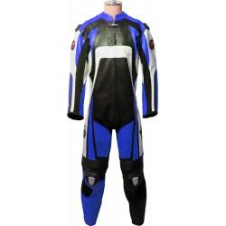 Raptor Blue Motorcycle Biker Race Leathers