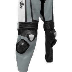 Raptor Grey Motorcycle Leather Suit