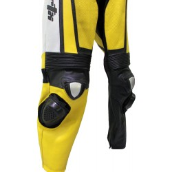 Raptor Yellow Motorcycle Leather Suit