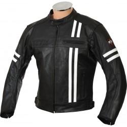 RTX Retro Black Buffalo Leather Jacket