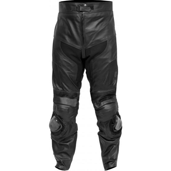 Retro Classic Black Motorcycle Trouser