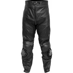 Retro Classic Black Motorcycle Trouser