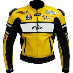 RTX Rossi WGP Replica Leather Biker Jacket