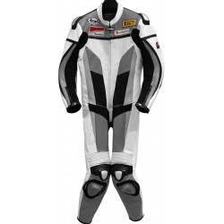 RTX Grey Spartan Sports Biker One Piece Leather Suit