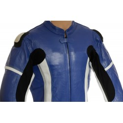 RTX Speedblock Blue Biker Leathers