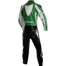 RTX Speedblock Green Biker Leathers