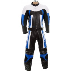 RTX Titan Blue Motorcycle Leather Two Piece Suit