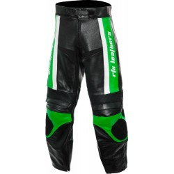 RTX Titan Green Motorcycle Leather Trouser Pant