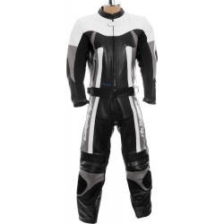 RTX Titan Grey Motorcycle Leather Two Piece Suit