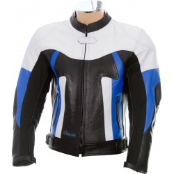RTX Titan Blue Motorcycle Leather Jacket