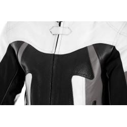 RTX Titan Grey Motorcycle Leather Jacket
