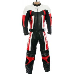 RTX Titan Red Motorcycle Leather Two Piece Suit