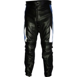 Transformer Blue Leather Motorcycle Trouser