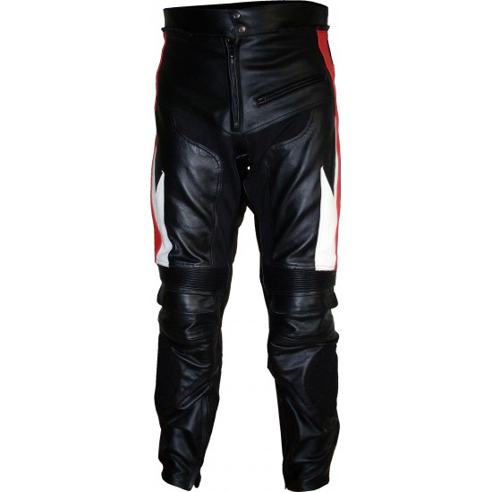 Transformer Red Leather Motorcycle Trouser