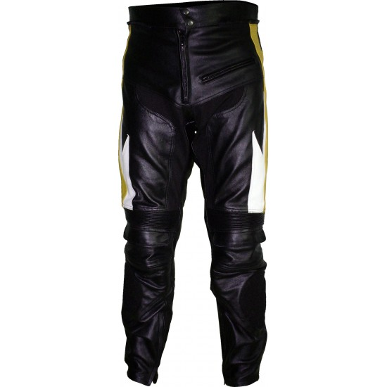 Transformer Yellow Leather Motorcycle Trouser