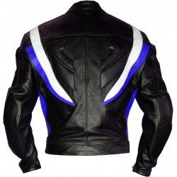 RTX Transformers Blue Pro Biker Motorcycle Jacket