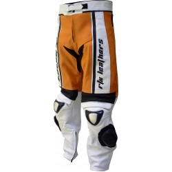 RTX X1 Supersport Touring Orange Leather Trouser Pant