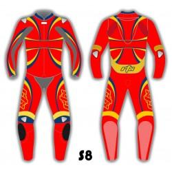 RTX Stealth Leather Biker Suit - 8 Colours