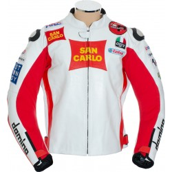 Marco Simoncelli Moto GP Replica Motorcycle Leather Biker Jacket