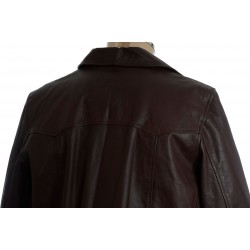 Shaft Soul 70's Classic Brown Leather Coat