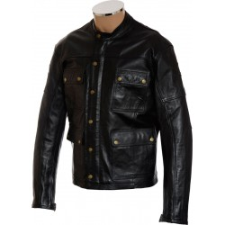 RTX Speedmaster Pure Leather Biker Jacket