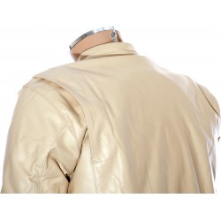 Steve McQueen GULF Cream LE MAN Armoured Biker Jacket