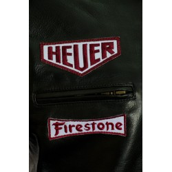 Steve McQueen Gulf Heuer Black Leather Jacket