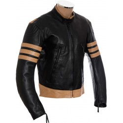 Logan Wolverine Genuine Black Leather Jacket